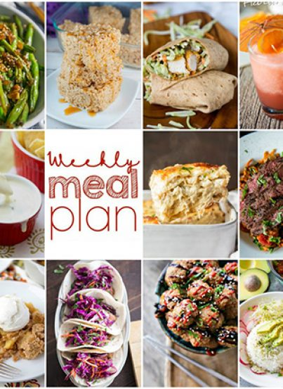 Weekly Meal Plan {Week 99} - 10 great bloggers bringing you a full week of fun summer recipes including dinner, sides dishes, and desserts!