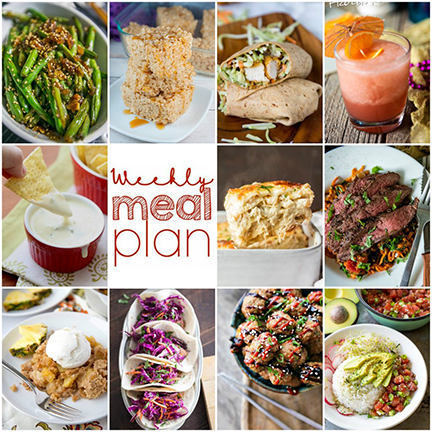 Weekly Meal Plan {Week 99} - 10 great bloggers bringing you a full week of funsummer recipes including dinner, sides dishes, and desserts!
