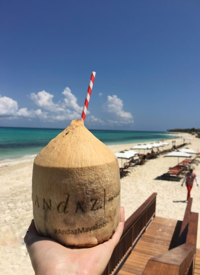 Beach Side Drinks, Hyatt Andaz, Mayakoba, Mexico