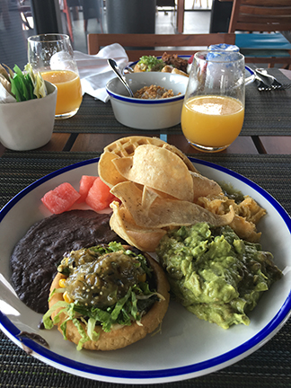Breakfast buffet spread at Cocina Milagro, Andaz Hyatt, Mayakoba Mexico.