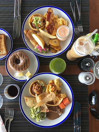 Breakfast spread at Cocina Milagro, Andaz Hyatt, Mayakoba Mexico.