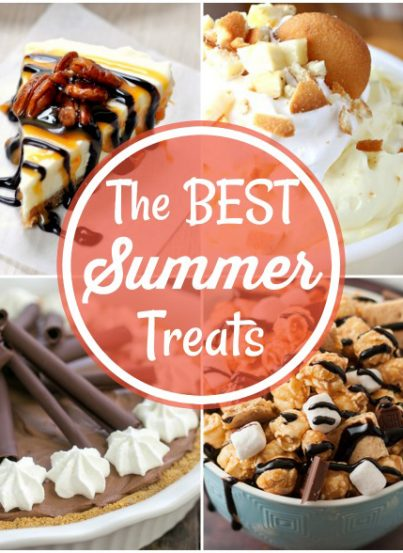 Get creative and cool down on a hot summer day with these 14 Best Summer Treats! These desserts are great to bring to potlucks or serve to guests!