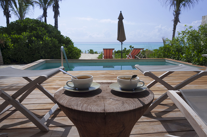 Espresso on our balcony by our private pool, Andaz Mayakoba.