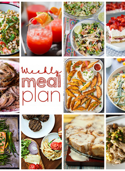 Weekly Meal Plan {Week 104}– 10 great bloggers bringing you a full week of recipes including dinner, sides dishes, and desserts!