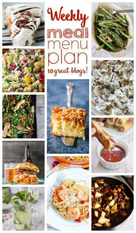 Weekly Meal Plan {Week 106} – 10 great bloggers bringing you a full week ofsuper easysummer recipes including dinner ideas, sides dishes, and desserts!