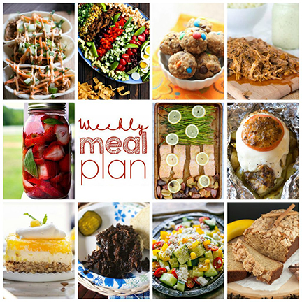 Weekly Meal Plan {Week 109} – 10 great food bloggers bringing you a full week of recipe ideas for your family. The recipes include dinners, side dishes, and desserts!