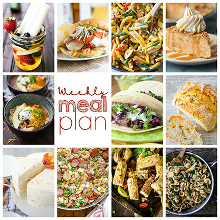 Weekly Meal Plan {Week 111} – 10 great bloggers bringing you a full week of recipes including dinner, sides dishes, and desserts!