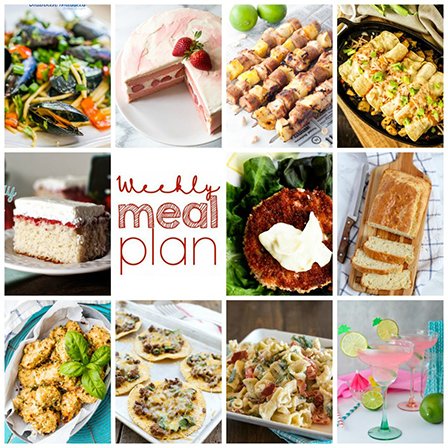 Weekly Meal Plan {Week 110} – 10 great bloggers bringing you a full week of recipes including dinner, sides dishes, and desserts!