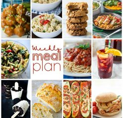 Weekly Meal Plan {Week 112} – 10 great bloggers bringing you a full week of comforting, easy recipes including dinner, sides dishes, and desserts!