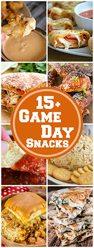 15+ Perfect Game Day Snacks for your next football party! It's all about the yummy, cheesy appetizers when watching the game!