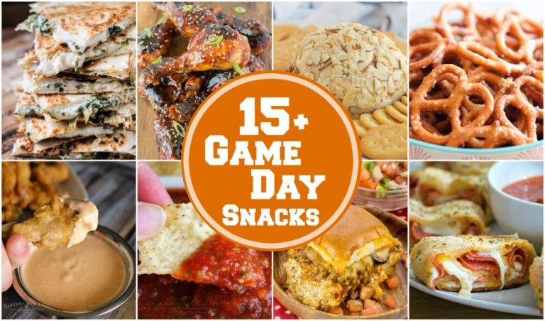 15+ Perfect Game Day Snacks for your next sports or football party! It's all about the yummy, cheesy appetizers when watching the game!