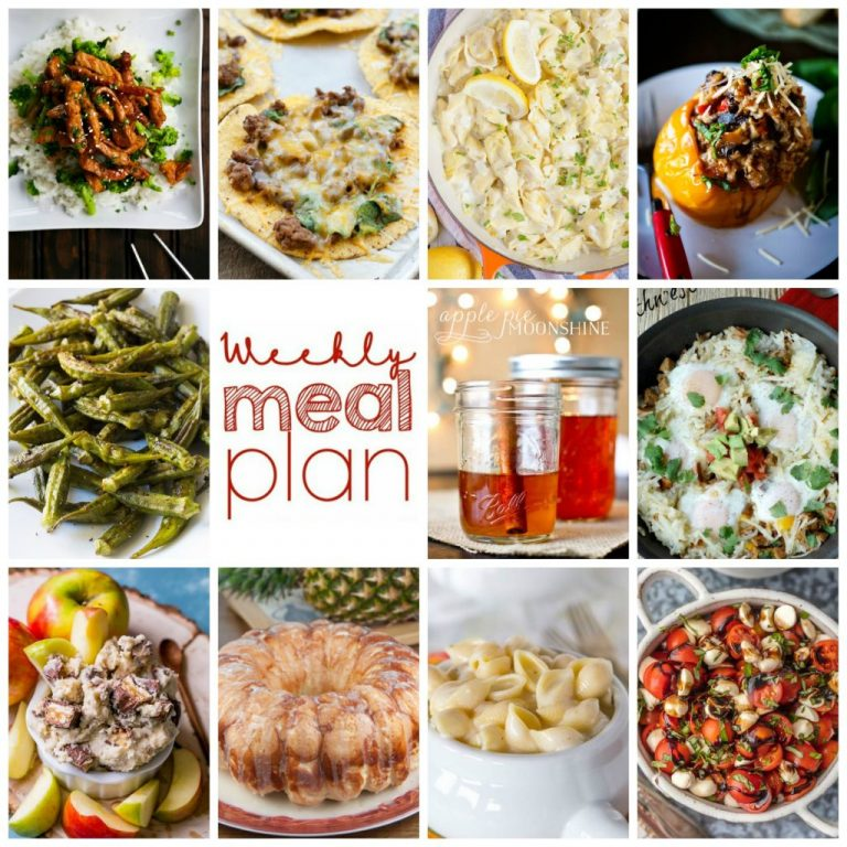 Weekly Meal Plan {Week 113} – 10 great bloggers bringing you a full week of recipes including dinner, sides dishes, and desserts!