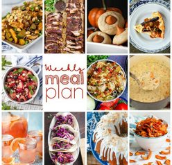 Weekly Meal Plan {Week 114} – 10 great food bloggers bringing you a variety of recipes including dinner, sides dishes, and desserts to get you through the week!