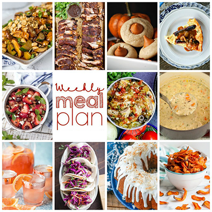 Weekly Meal Plan {Week 114} – 10 great foodbloggers bringing youa variety of recipes including dinner, sides dishes, and desserts to get you through the week!
