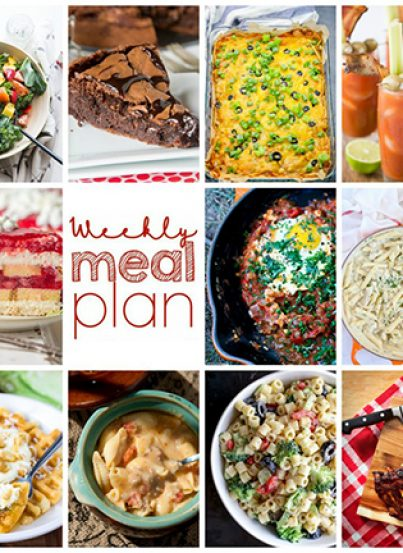 Weekly Meal Plan {Week 115} – 10 great bloggers bringing you a delicious week of recipes including dinner, sides dishes, and sweet desserts!