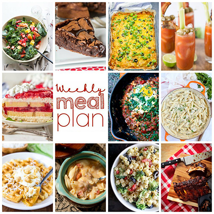 Weekly Meal Plan {Week 115} – 10 great bloggers bringing you adelicious week of recipes including dinner, sides dishes, and sweet desserts!