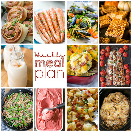 Weekly Meal Plan {Week 116} – 10 great bloggers bringing you a full week of recipes including dinner, sides dishes, and desserts!
