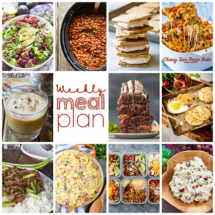 Weekly Meal Plan {Week 117} – 10 great food bloggers bringing you a full week of fall recipes including dinner, sides dishes, and desserts!