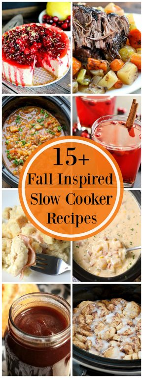 15+ Fall Inspired Recipes - round out your fall holidays and celebrations with these festive main course, side dish, appetizer, drink, and dessert recipes!