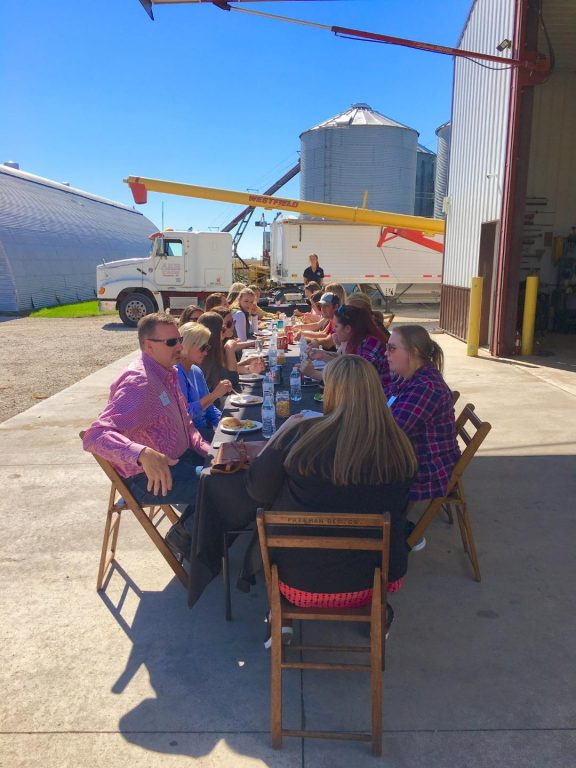 Lunch on the farm, Blair Farm, Dayton Iowa.