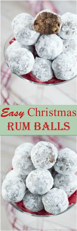 Easy Christmas Rum Balls are sweet, dense, and the perfect addition to your holiday dessert trays! This traditional recipe will have all of the adults raving!
