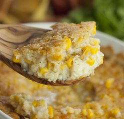 This easy Old-Fashioned Creamed Corn Casserole recipe is just like Grandma used to make it! If you need an excellent side dish idea for the holidays, look no further!