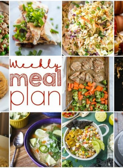 Weekly Meal Plan {Week 118} - 10 great bloggers bringing you a full week of recipes including fall dinner ideas, sides dishes, and desserts!