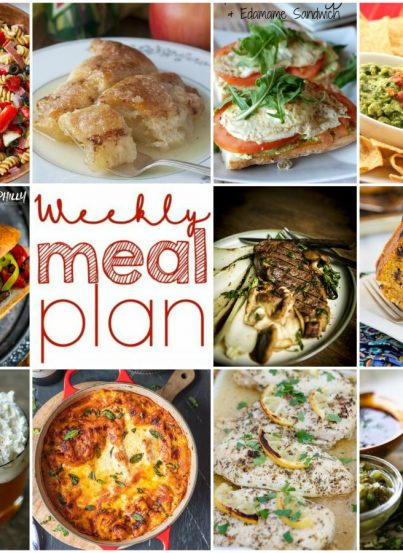 Weekly Meal Plan {Week 119} - 10 great bloggers bringing you a full week of comforting fall recipes including dinner, sides dishes, and desserts!