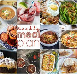 Weekly Meal Plan {Week 121} - 10 great bloggers bringing you a full week of fall-inspired recipes including dinner, sides dishes, drinks, and desserts!