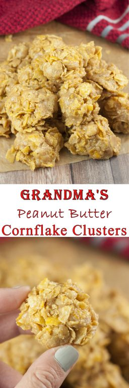 Grandma S Peanut Butter Corn Flake Clusters Wishes And
