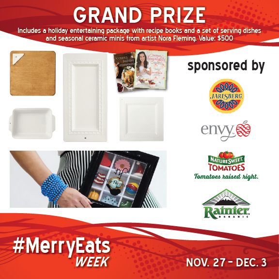 Grand prize for the best of holiday entertaining giveaway.