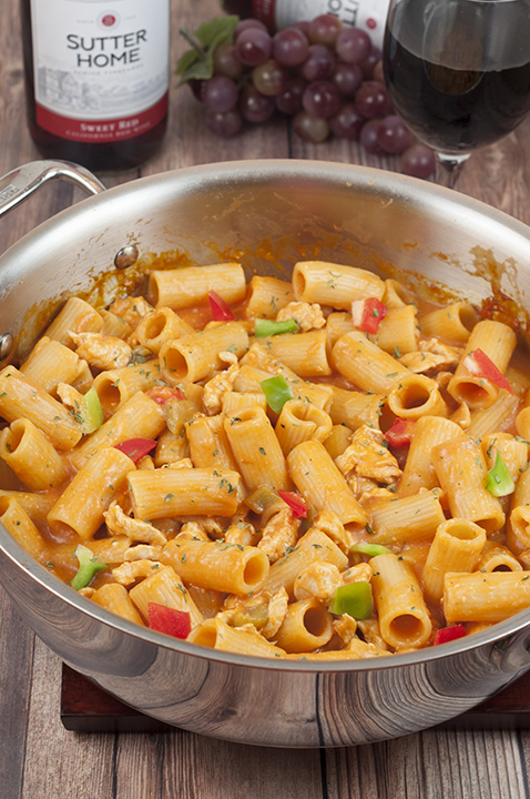 This easy Spicy Chicken Riggies recipe is one of my favorite Italian pasta dishes with the perfect amount of kick to it in a creamy tomato sauce. The whole family will love this!