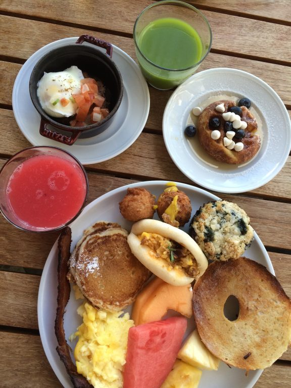 The breakfast buffet at the Andaz Maui Hyatt resort in Hawaii is to die for!