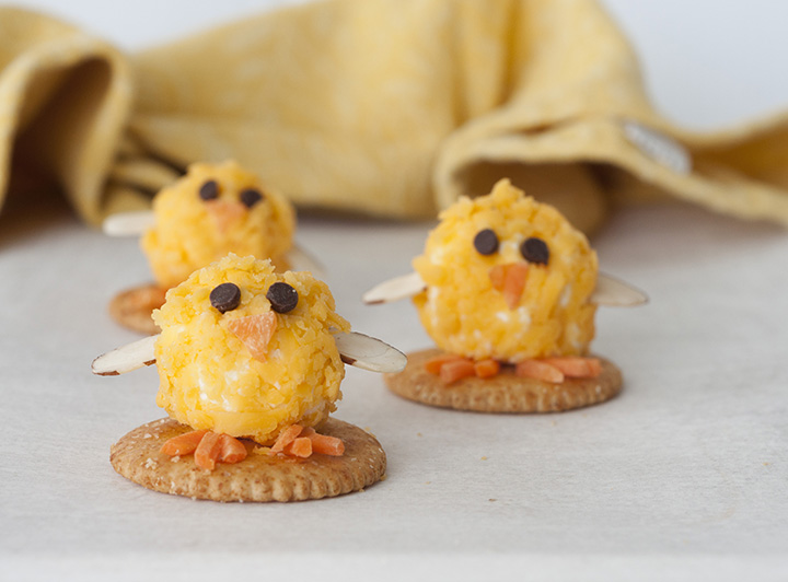 Baby Chick Bacon Mini Cheese Balls recipe would be the cutest addition to your holiday table for an Easter appetizer idea or a fun snack idea! They are so easy to make and perfect for adults and kids to eat on the Easter holiday.