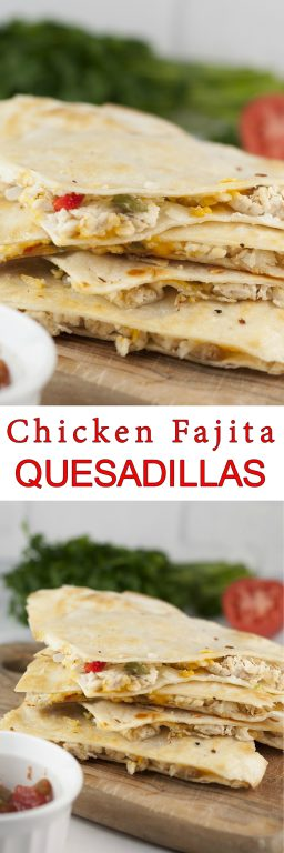 Quick Chicken Fajita Quesadillas are the perfect weeknight meal recipe and great for Mexican food night! They're so easy to make right at home and you'll love this variation of the traditional authentic quesadilla.