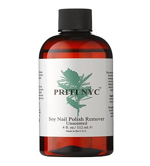 Priti Soy Nail Polish Remover that is all-natural and biodegradable.