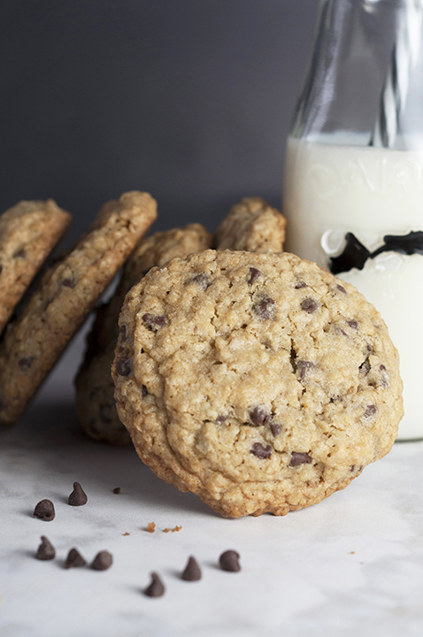 This is My Favorite Chocolate Chip Oatmeal Cookies recipe that I'm finally sharing. I bake these cookies more than any other chocolate chip cookie as they are chewy, packed with chocolate, and truly the best recipe out there because they are no-fail!