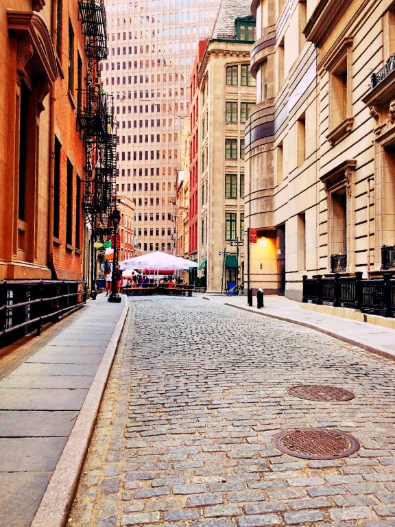 Stone Street, Financial District, New York City.