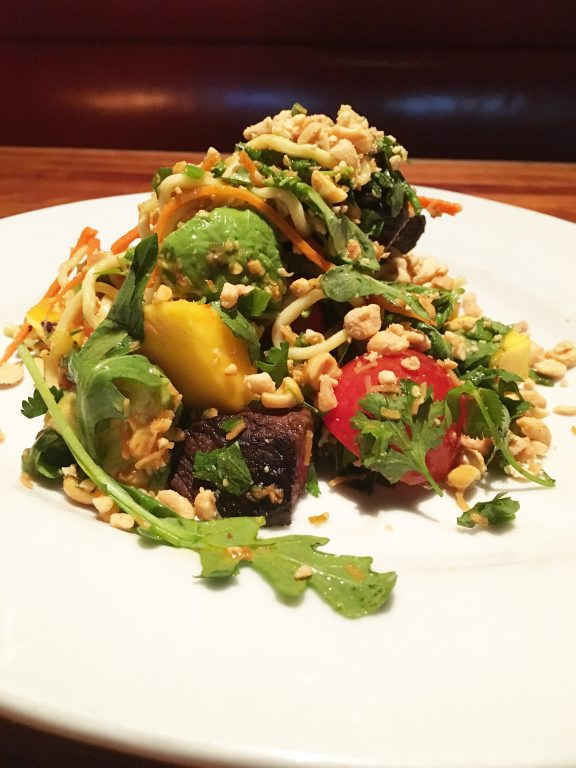 Thai Steak and Noodle Salad, Hillstone restaurant, Manhattan, NYC.