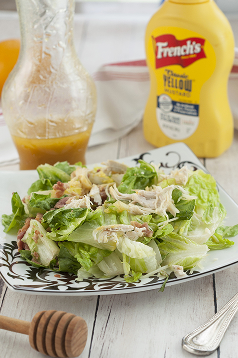 Easy Honey Mustard Salad Dressing recipe great for any salad!