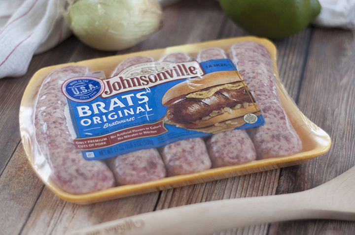 Johnsonville Original Brats for grilling.