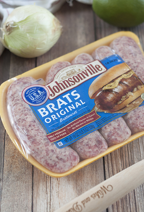 Johnsonville Original Brats for grilling for the 4th of July.