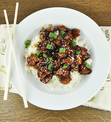 Easy Baked Honey Sesame Chicken recipe is better than Chinese take-out and is perfect when you want great tasting Chinese food without all of the fat from the oil and deep frying!