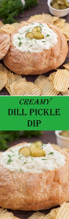 Dill Pickle Dip is a quick and easy appetizer recipe for the holidays, potluck, gathering with friends, movie night, party or any occasion!