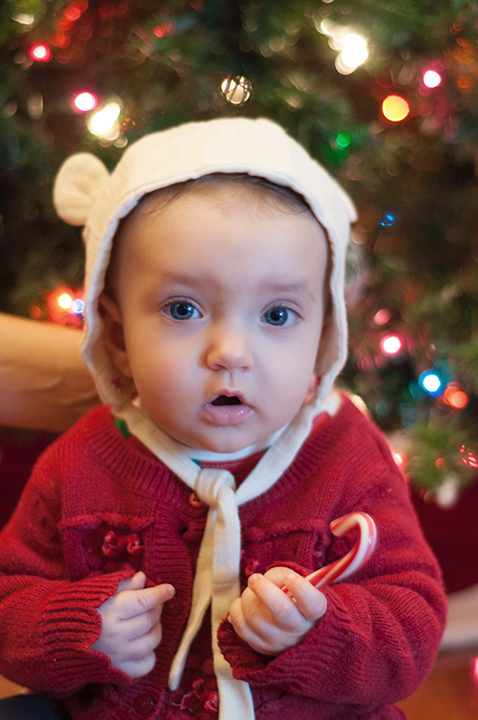 Baby Eliza's very first Christmas.