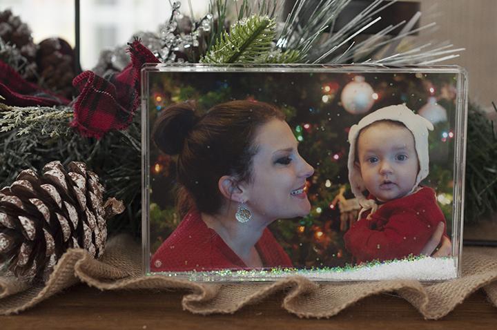 "Snowflake snow ""blox"" holiday gift made at the Kodak Moments Kiosk in Wegmans, Rochester NY."