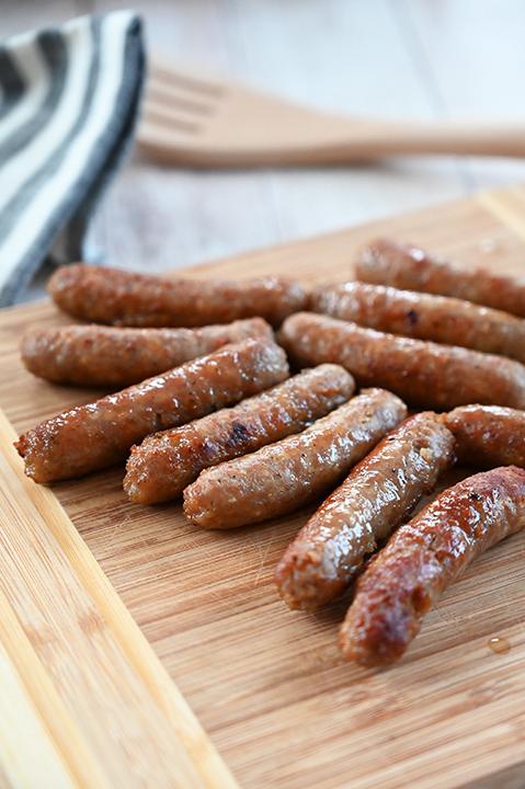 Johnsonville Fully-Cooked breakfast sausage.