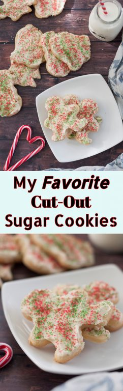 My Favorite and BEST Cut-Out Sugar Cookies: holiday recipe for soft cut-outs I've been using since I was a little kid. You won't find a better way of making them for Christmas or any special occasion!