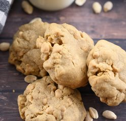 Easy thick & Chewy Bakery Style Double Peanut Butter Cookies with the perfect gooey center will be the only peanut butter cookie recipe you will ever need! It's guaranteed to be a crowd-please among your family and friends.