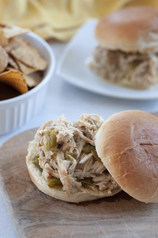 Crock Pot Pulled Cheesesteak Chicken recipe is an incredibly easy family dinner idea made right in your slow cooker and packed with flavor! You can keep it warm and serve it for a party or potluck!